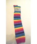 Rainbow Stripes Julietta Over The Knee Socks Fun Novelty Socks Size 9-11... - $8.95
