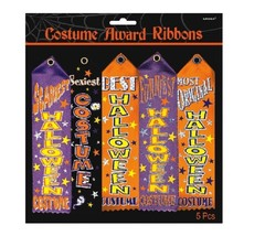Pack of 5 Halloween Trick Or Treat Party Costume Contest Award Prize Rib... - $7.37