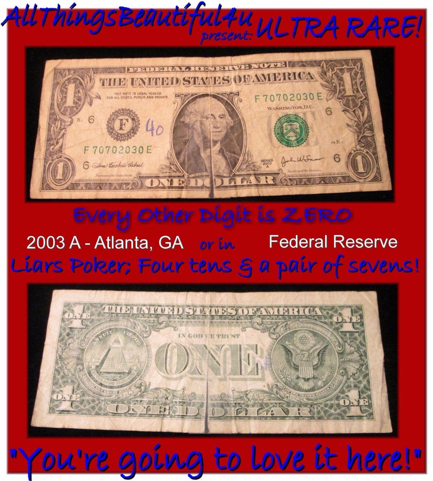2003A $1 ATLANTA FRN NEW /& UNCIRCULATED BANKNOTE