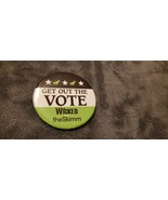 """WICKED - NYC BROADWAY MUSICAL: """"GET OUT THE VOTE"""" BUTTON - $15.00"""