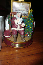 THOMAS KINKADE SANTA THE JOY OF CHRISTMAS SANTA CHECK LIST W CERTIFICATE... - $39.99