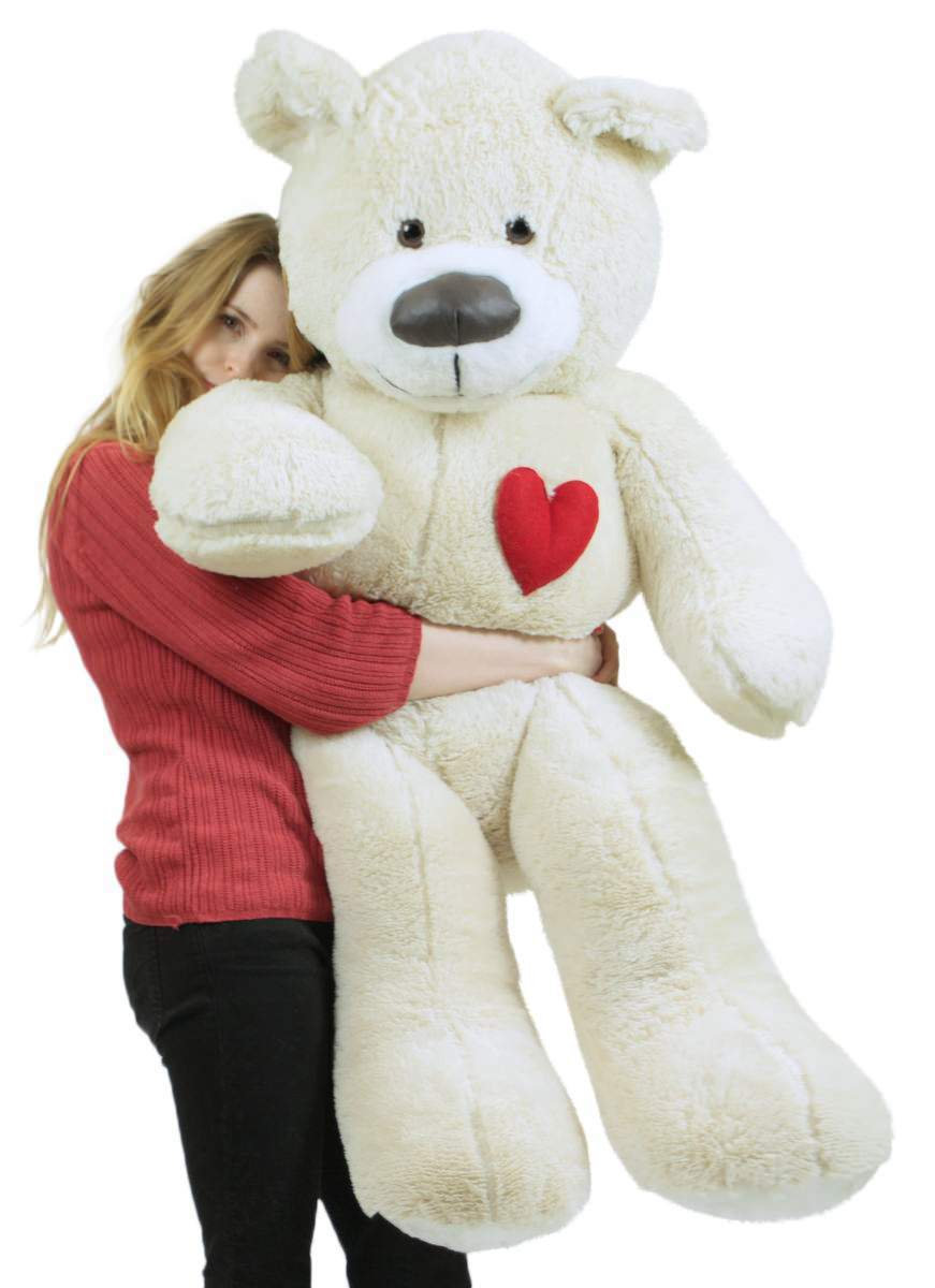 Primary image for Valentine's Day Giant Teddy Bear With Heart on Chest to Express Love, 5 Foot Sof