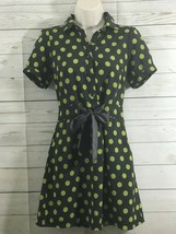 Forever 21 Womens Green Polka Dot Short Sleeve Summer Dress Size Small  - $9.85