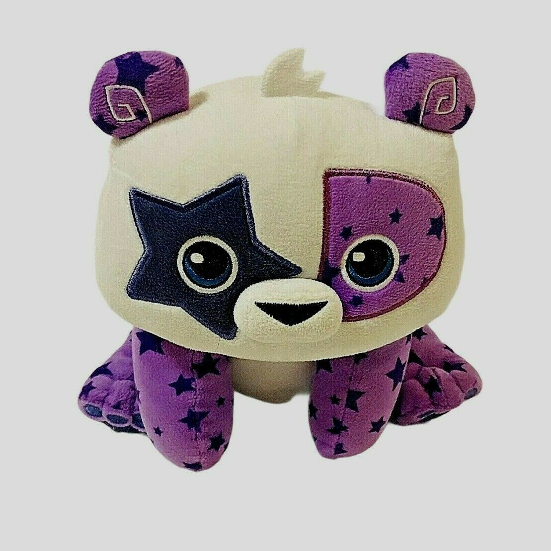 Primary image for Animal Jam Posh Panda Plush White Purple Stuffed Animal Stars Toys Panda Bear
