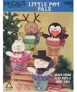 McCalls LITTLE POT PALS 16034 Upcycle Recycle Uses Clay Pots & Juice Lids - $4.74