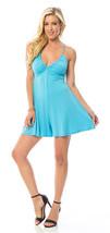 Flirty Romper Sky Blue Deep V neckline Designer Draw String Back size S M L - $16.40