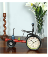 Black and Red Iron Vintage Tractor Table Clock - $179.00