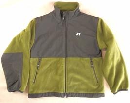 Fleece Jacket M (10/12) Russell Athletic Warm Full Zip Long Sleeve Green... - $14.01