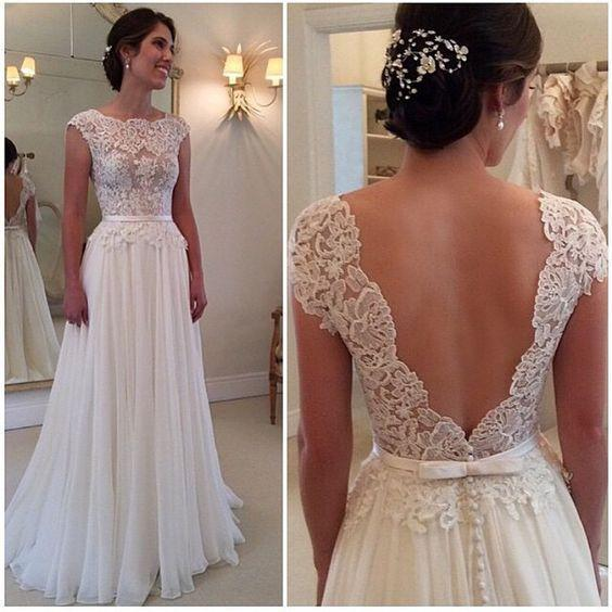 White prom Dress,Elegant Prom Dresses,Long Evening Dress,lace prom dresses