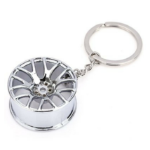 Key Ring Metal Car Vehicle Wheel Design Zinc Alloy Fashionable Beautiful... - $9.99