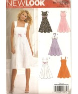 Misses Dresses Sewing Pattern 5 Variations Sizes 8-16 New Look 6589 UNCUT - $5.99