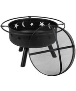 """Flash Furniture 29"""" Round Wood Burning Firepit with Mesh Spark Screen - $133.33"""