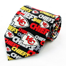 Kansas City Chiefs Men's Silk Neck Tie NFL Football Sports Fan Black Nec... - $31.68
