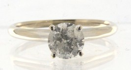 Women's 14kt White Gold Solitaire ring - $2,499.00
