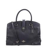 Coach Mercer Satchel Grain Leather Navy Blue WOmens Bag 37167LINAV - $349.00