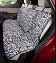 Dog Car Seat Covers Pets Cats Quilted Blanket Water Resistant Black Damask - $21.77