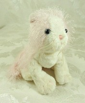 Ganz Webkinz Pink and White Cat HM189 Preowned Stuffed Animal Blue Eyes No Code - $14.84