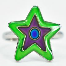 Kid's Fashion Silver Tone Star Color Changing Fashion Adjustable Mood Ring image 5
