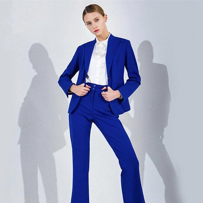 E ladies suit royal blue ladies business suits womens tailored formal business work wear 2 piece