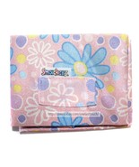 LIP SMACKER 1pc BOOK COVER Stretchy PINK w/WHITE+BLUE+YELLOW FLOWERS 1a ... - $13.83