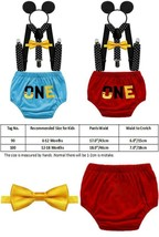 Baby Boys First Birthday Party Outfits Cake Smash Photo Shoot Costume ONE  - $20.21