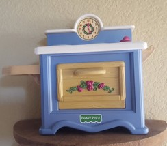 1998 Briarberry Fisher Price Briar Berry Bears Doll KITCHEN STOVE OVEN o... - $37.87