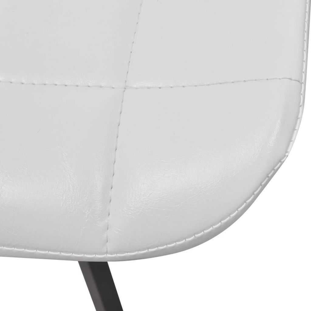 vidaXL Set of 4 Dining Office Living Room Kitchen Chair Artificial Leather White image 6