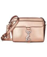 NWT Rebecca Minkoff Metallic Rose Gold Leather MAB Camera Bag - $139.50