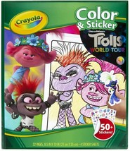 Crayola Color & Sticker Trolls World Tour 32 Pages & 50+ Stickers - $5.89