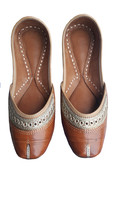 punjabi jutti handmad jutti, fashion shoes, leather shoes USA-9               - $29.99