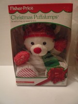 1993 FISHER PRICE PUFFALUMP CHRISTMAS STUFFED BEAR 8141 NEW IN BOX - $85.00