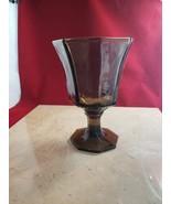 Vintage Black/Dark Gray 8 Sided Octagon Wine Glass/Goblet - $12.99