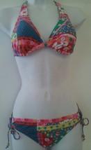 Candies Swimsuit Bikini Set Push Up Reversible Top Scoop Bottom Ties Junior - $19.99