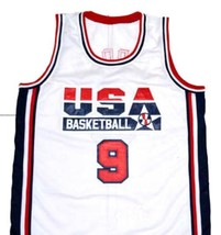 Michael Jordan #9 Team USA Basketball Jersey White Any Size image 4