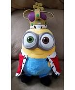 "DISNEY MINIONS KING BOB Red Cape Crown New Plush Stuffed Animal 14"" JAPA... - $39.99"