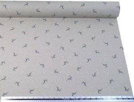 Stag Silver Grey Beige Linen Look High Quality Fabric Material 3 Sizes - $3.06+