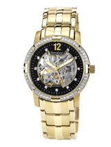 Men's Armitron Dress Watch Gold Automatic Crystal Accents Stainless Stee... - $162.71