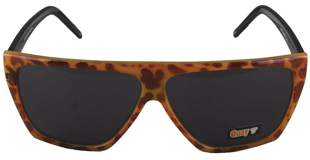 NEW Quay Eyeware Australia 1477 Leopard Tortoise Black 100% UV Sunglasses Shades