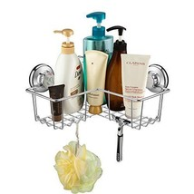 SANNO Suction Shower Caddy, Corner Bath Shelf Storage Combo Organizer w/... - $26.88