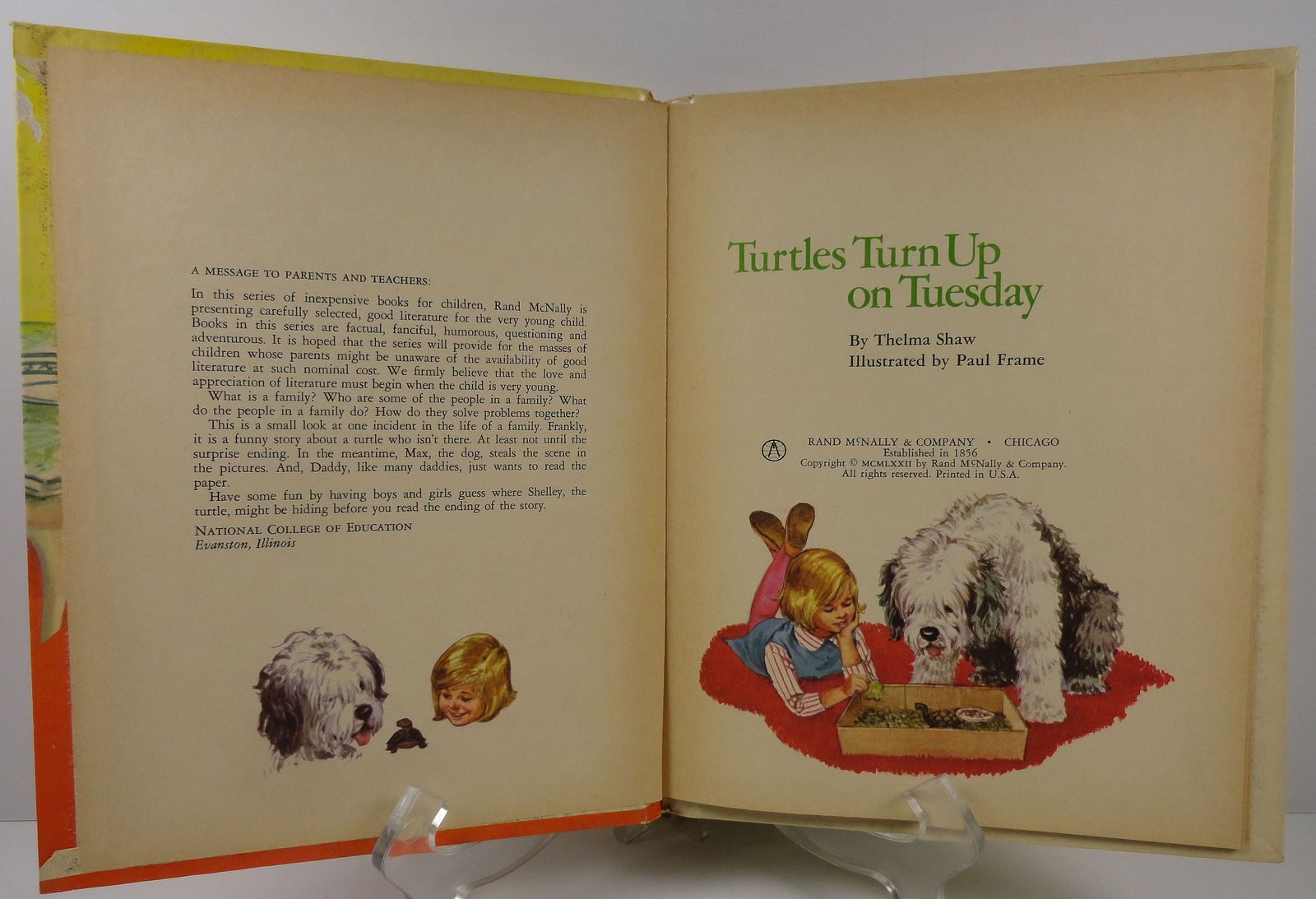 Turtles Turn Up on Tuesday by Thelma Shaw Start Right Elf Book