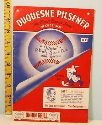 Primary image for 1946 Pittsburgh Pirates Baseball Scorecard with Note From Front Office