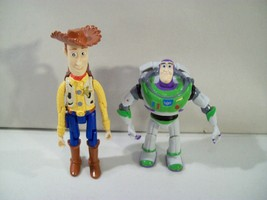 2 DISNEY PARKS TOY STORY WOODY & BUZZ PARACHUTE ACTION FIGURES ARTICULATED - $12.69