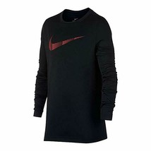 Nike Boys Black Dri Fit Legacy Long Sleeve Training Top New Small - $17.81
