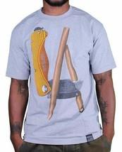 Dissizit! Heather Grey LA Blunt Box Cutter Utility Knife Los Angeles T-Shirt NWT image 1