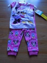 Size 12 Months Disney Minnie Mouse Daisy Duck Pajamas Set Shirt Top Pant... - $12.00
