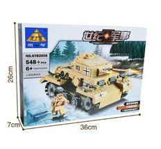 Century Military German Light Tank PzKpfw II Lego Minifigure Building Bl... - $58.00