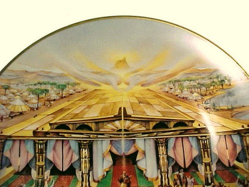 The Glorious Tablernacle Religious China Collector Plate Christian Vintage 1980