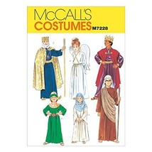 McCall's Patterns M7228 Christmas Costumes Sewing Template, XSM (4-6) - $14.21