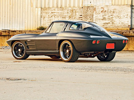 1963 Chevy Corvette split window black 24X36 inch poster, sports car, mu... - $18.99