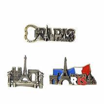 Commemorative Journey Alloy Refrigerator Magnets 3 pcs, Paris - $26.07
